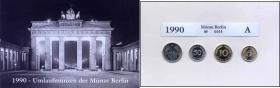 offizieller Münzsatz 1990 A der Staatl. Münze Berlin