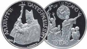 Vatikan 10 Euro 2002 PP