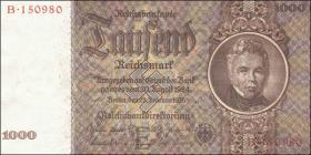R.177: 1000 Reichsmark 1936 Schinkel Serie B   (1/1-)