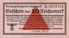 R.521a: Kriegsgefangenengeld 10 Reichsmark o.J. (2)