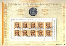 1999/3 Goethe / Weimar - Numisblatt