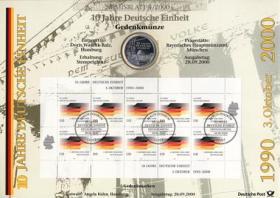 2000/4 10 Jahre Deutsche Einheit - Numisblatt