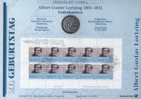 2001/1 Lortzing - Numisblatt