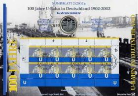2002/2 100 J. U-Bahn Berlin - Numisblatt