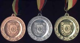 Siegermedaillen Bezirks-Meisterschaften Zivilverteidigung - am Band