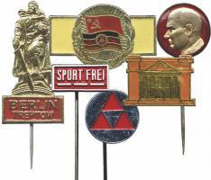 Lot von 12 verschiedenen Stasi-Observationsabzeichen