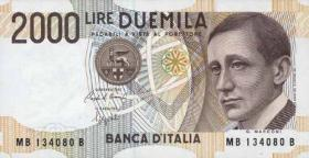 Italien / Italy P.115 2000 Lire 1990 (1)