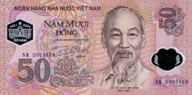 Vietnam / Viet Nam P.118 50 Dong 2001 Polymer (1)