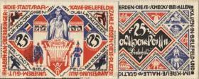 Notgeld Bielefeld GP.16 25 Mark 1921 Leinen