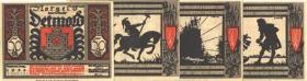 Notgeld Detmold II. 10 x 50 Pfennig