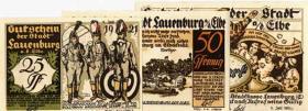 Notgeld Lauenburg (3 Werte)
