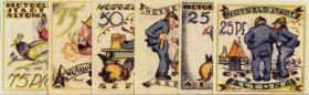 Notgeld Altona Karikaturen (6 Werte)