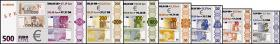 Testbanknoten Euro/ DM