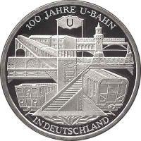 Deutschland 10 Euro 2002 U-Bahn PP