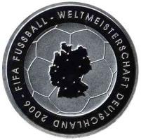 Deutschland 10 Euro 2003 Fußball-WM (Landkarte) PP