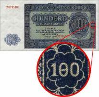 R.346F 100 DM 1948 Plattenfehler '180'