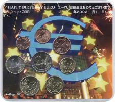 A-025b Euro-KMS 2003 A Happy Birthday Euro (Japan Fehldruck)
