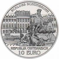 Österreich 10 Euro 2003 Schloß Schönbrunn, prfr