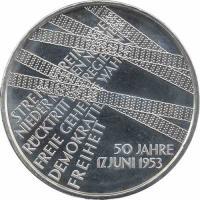 Deutschland 10 Euro 2003 17. Juni 1953 stg