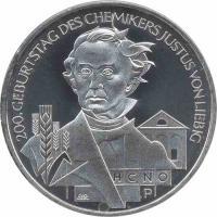 Deutschland 10 Euro 2003 Liebig stg