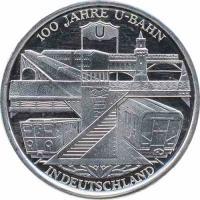 Deutschland 10 Euro 2002 U-Bahn stg