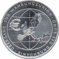 Deutschland 10 Euro 2002 Währungsunion stg