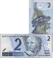 Brasilien / Brazil P.249 2 Reais (ab 2001) (1)