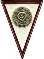 B.0826 Absolventenabzeichen NVA für Offiziere (weiß)