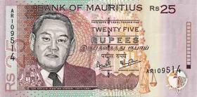 Mauritius P.49a 25 Rupien 1999 (1)
