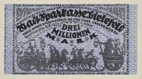 Notgeld Bielefeld 3 Millionen Mark 1923