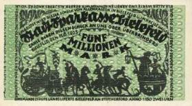 Notgeld Bielefeld 5 Mio. Mark 1923