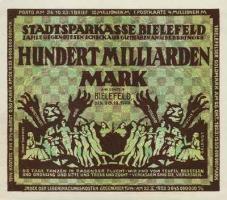 Bielefeld 100 Milliarden Mark 1923