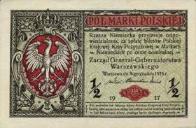 R.449: Besetzung Polen 1/2 Marki 1917 (3)