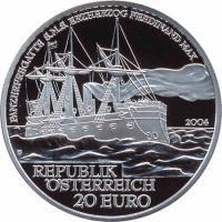 Österreich 20 Euro 2004 SMS Erzh. Ferdinand Max