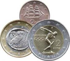Griechenland Eurokursmünzensatz 2004 (lose)
