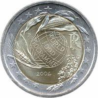 Italien 2 Euro 2004 World Food Programm
