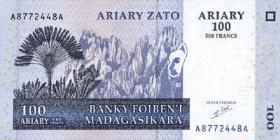 Madagaskar P.86a 100 Ariary 2004 (1)