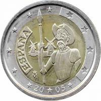 Spanien 2 Euro 2005 Don Quichote