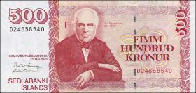 Island / Iceland P.58c 500 Kronen 2001 (2004) (1)