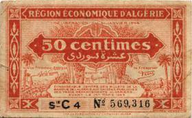 Algerien / Algeria P.097a 50 Centimes L.1944 (4)