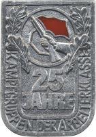 Jubiläumsabzeichen 25 Jahre Kampfgruppen
