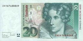 R.304b 20 DM 1993 ZA (1) Ersatznote