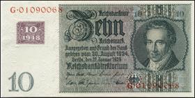 R.334c: 10 DM 1948 Kuponausgabe (1)
