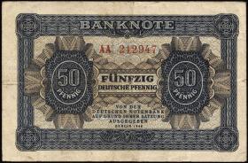 R.339b: 50 Pfennig 1948 Serie AA (3-)
