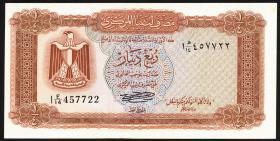 Libyen / Libya P.33b 1/4 Dinar (1972) (1)
