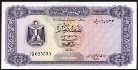 Libyen / Libya P.34b 1/2 Dinar (1972) (1)