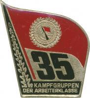 Jubiläumsabzeichen 35 Jahre Kampfgruppen
