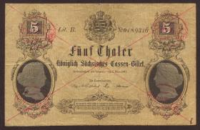 A-397 Sachsen 5 Thaler 1867 (3)