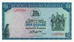 Rhodesien / Rhodesia P.38 1 Dollar 1979 (2+)