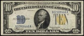 USA / United States P.415Y 10 Dollars 1934 A Silver Certificate (3)
